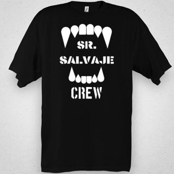 """Camiseta """"Crew"""" Negra"""